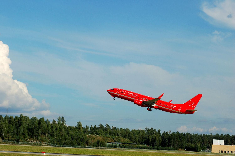 Sterling-fly tar av fra Oslo Lufthavn Gardermoen. Foto: Pål Stagnes