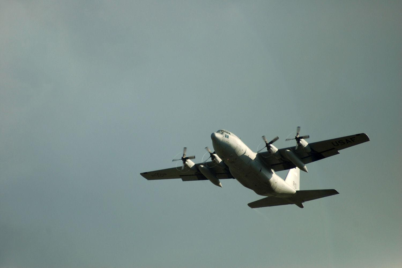 Hercules tar av fra Oslo Lufthavn Gardermoen. Foto: Pål Stagnes