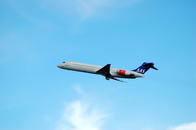 SAS-fly tar av fra Oslo Lufthavn Gardermoen. Foto: Pål Stagnes