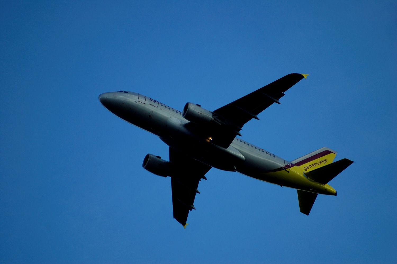 Germanwings-fly tar av fra Oslo Lufthavn Gardermoen. Foto: Pål Stagnes