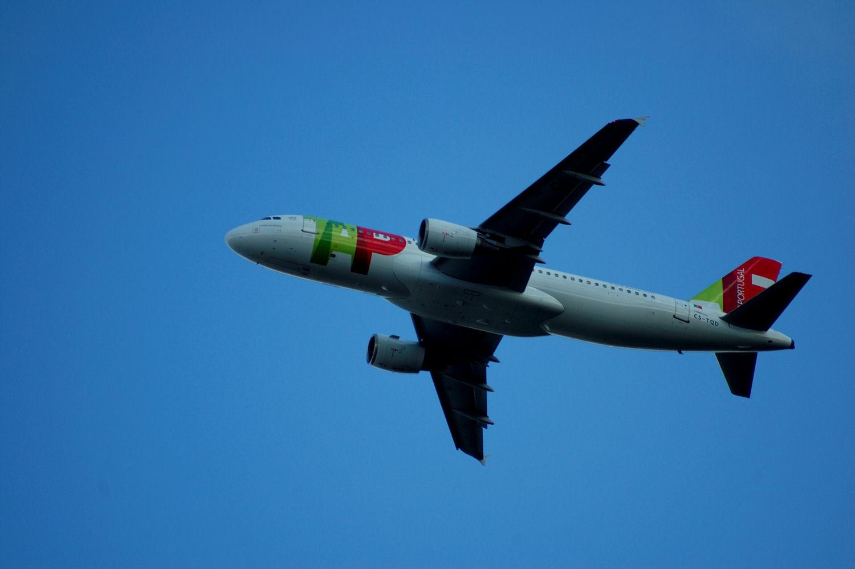 TAP Air Portugal-fly tar av fra Oslo Lufthavn Gardermoen. (CS-TQD). Foto: Pål Stagnes
