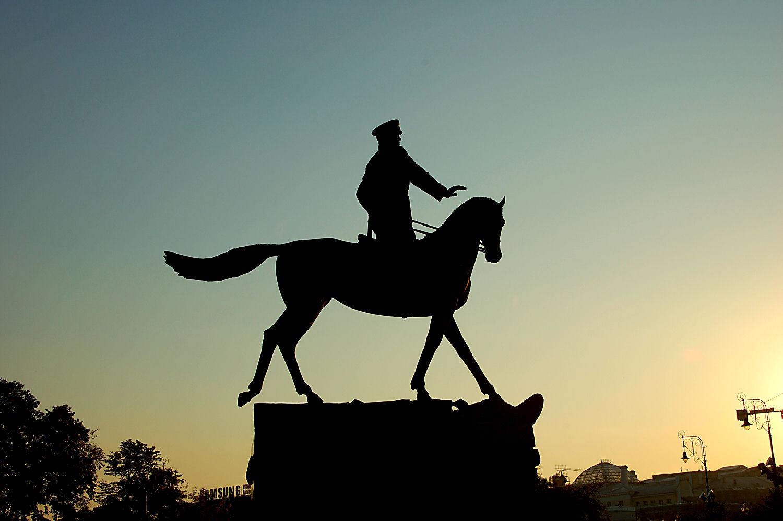 Statue i Moskva, Russland. Foto: Pål Stagnes