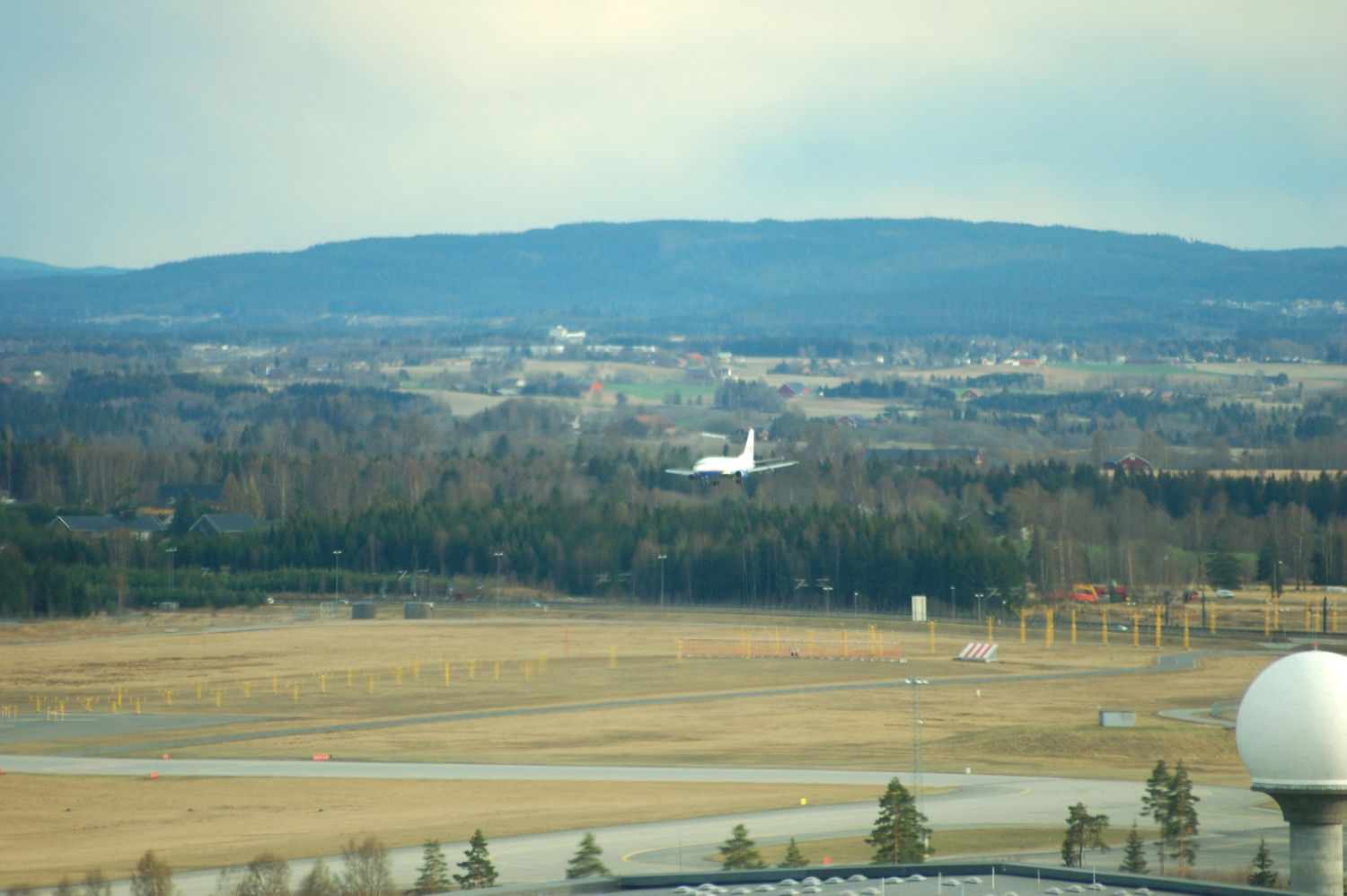 View from the tower at Oslo Airport. Photo: Pål Stagnes