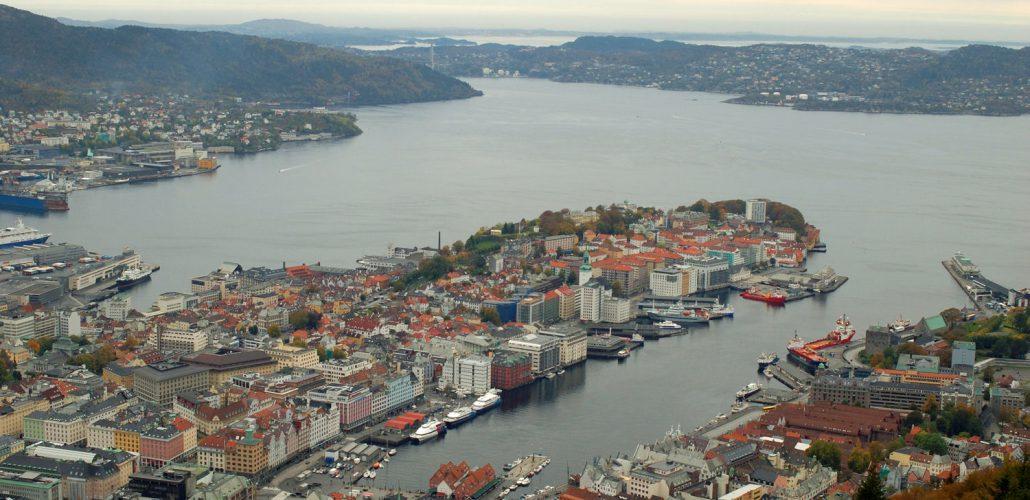 Utsikt fra Fløien. Foto: Pål Stagnes