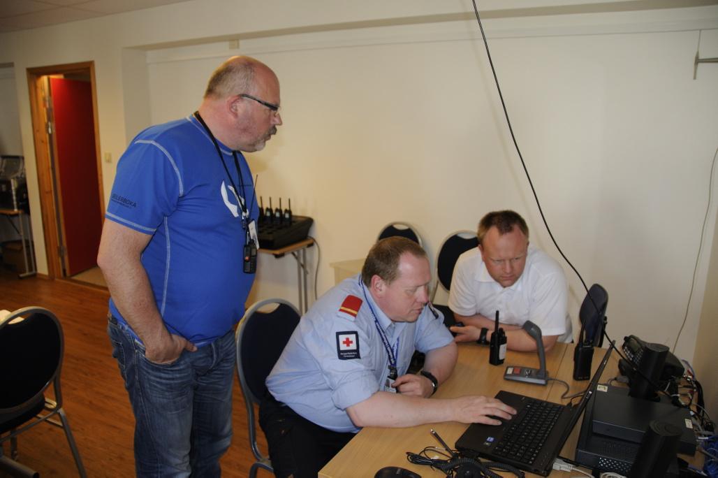 Demo av mobilt kontrollrom for Nødnett. Foto: Pål Stagnes