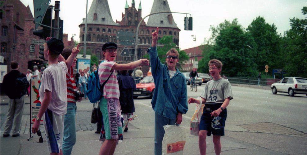 På tur med skolekorpset til Tyskland (1991). Foto: Pål Stagnes