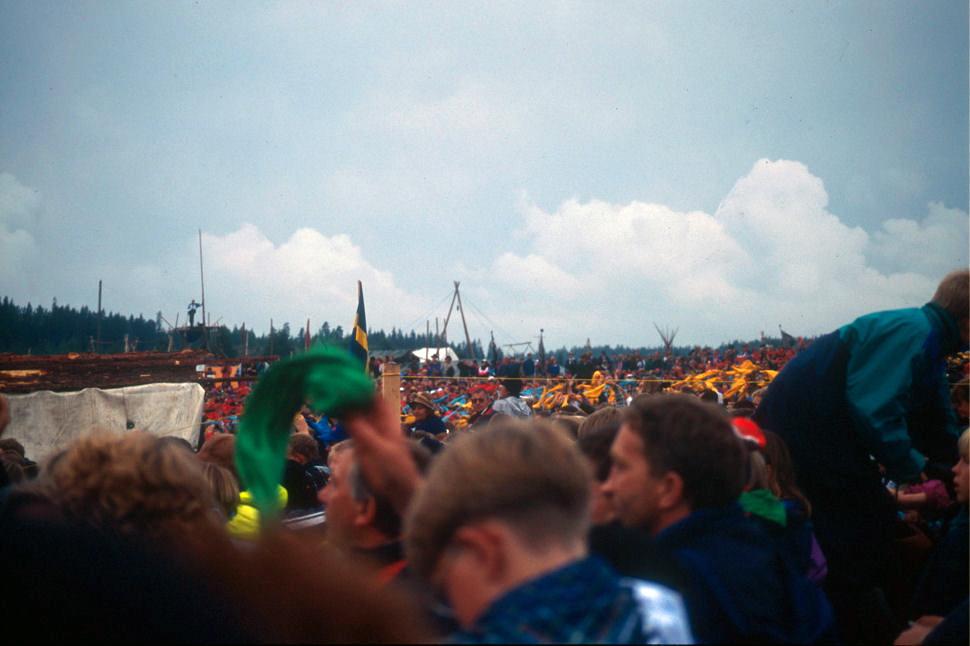 National Scout Jamboree, Eidskog 1993. Photo: Pål Stagnes