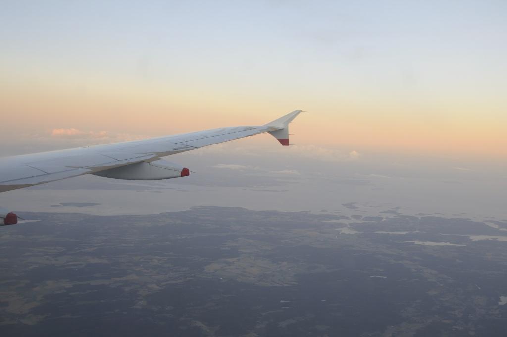 På vei hjem om bord BA 770 fra Heathrow til Oslo. Foto: Pål Stagnes